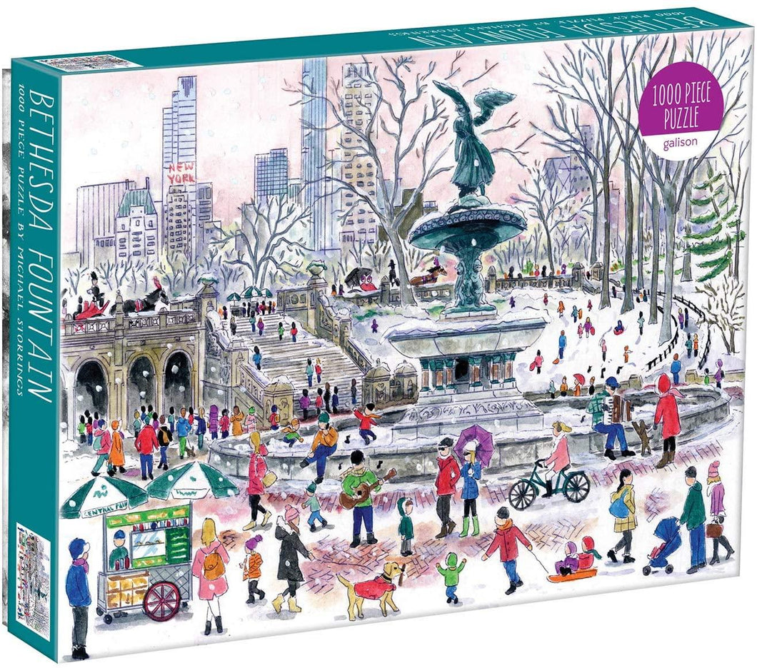 Michael Storrings Bethesda Fountain - 1000 piece
