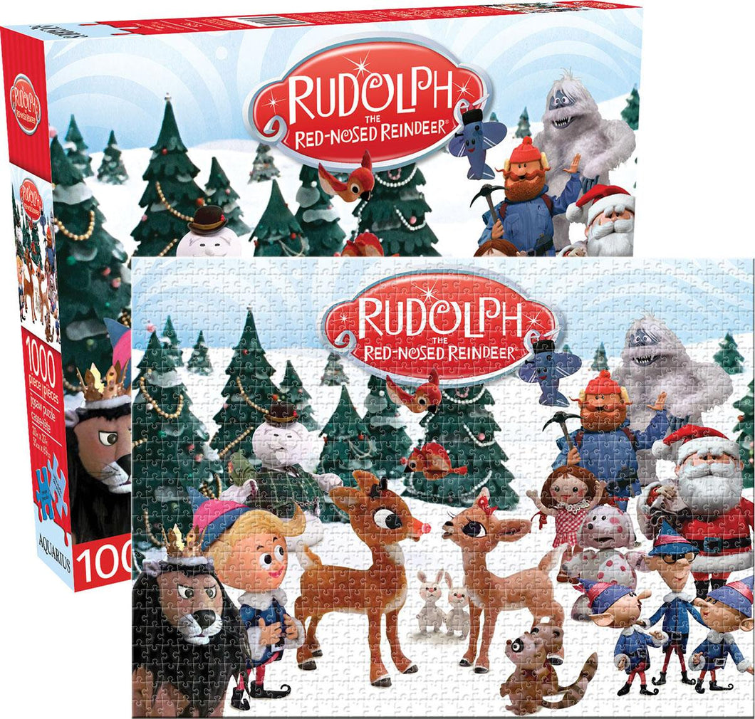 Rudolph the Red-Nosed Reindeer Cast - 1000 piece