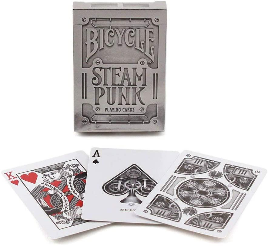 Silver STEAMPUNK Playing Cards by Bicycle