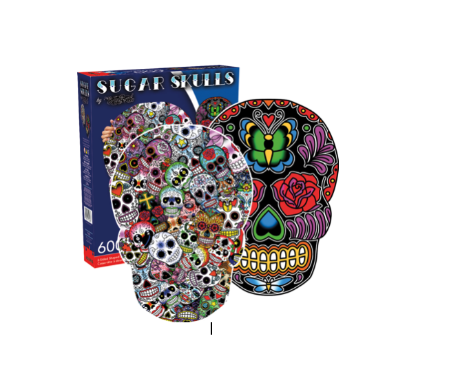 Sugar Skulls - 600 piece Double-sided Shaped