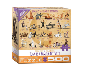 Yoga Is A Family Activity - 500 piece