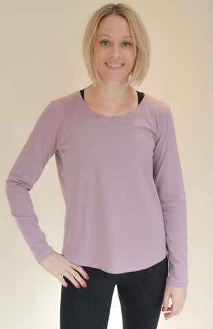 Lucinda Relaxed Yoga Top - Lavender
