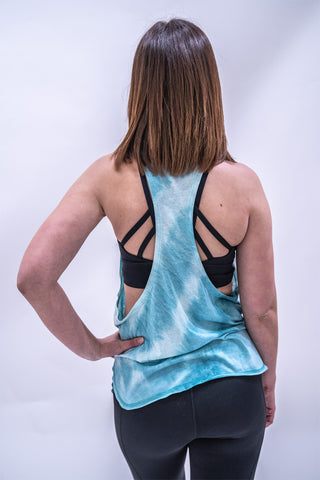 Stacey Tie-Dye Workout Vest - Teal