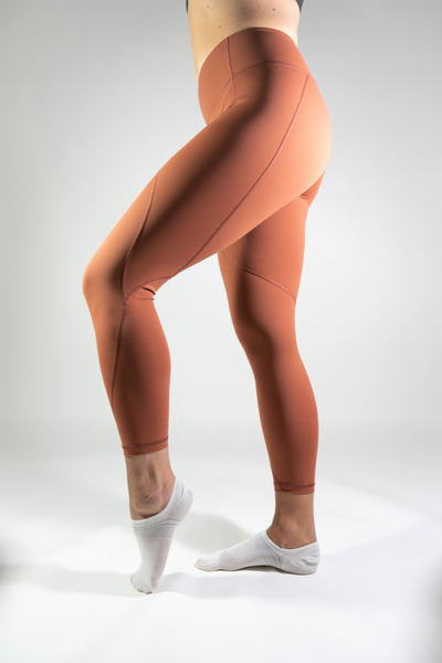 Natalie Full-Length Yoga Leggings - Burnt Orange