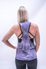 Stacey Tie-Dye Workout Vest - Purple