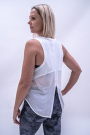 Jodie Multi-Way Workout Top - White