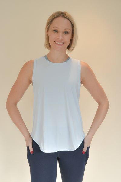 Jodie Multi-Way Workout Top - Ice Blue
