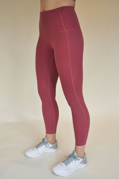 Kristie High-Waisted 7/8 Leggings - Rose Pink