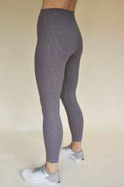 Rachel Patterned Leggings - Lilac Grey