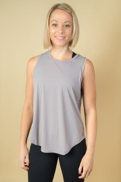 Jodie Multi-Way Workout Top - Grey Lilac