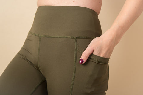 Nicola High-Waisted Leggings -Khaki