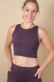 Abi Padded Crop - Plum