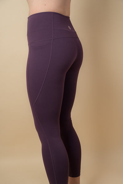 Kristie High-Waisted 7/8 Leggings - Plum