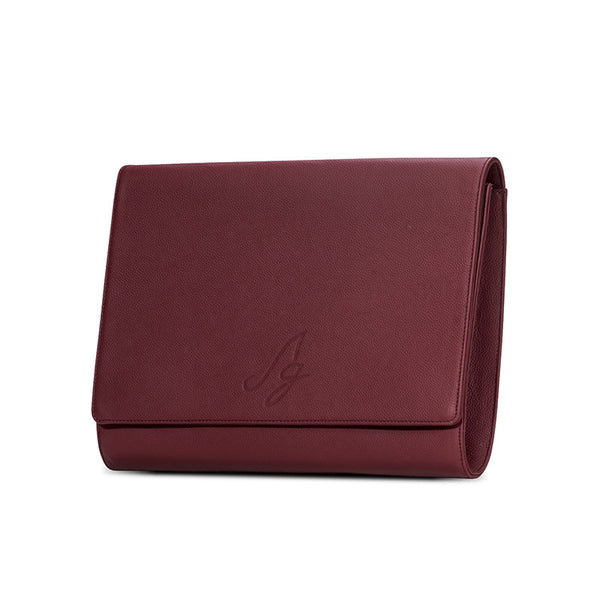 Business Clutch - Dark red