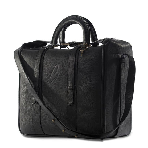 Gala Briefcase Tote - Black with strap