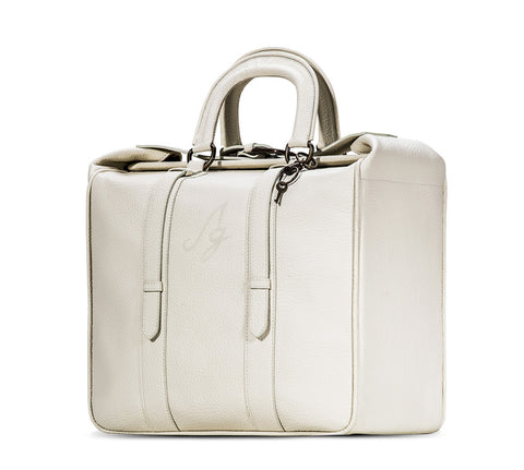 The Sylvie Briefcase Tote -Cream