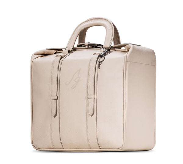 Elisa Briefcase Tote - Peach