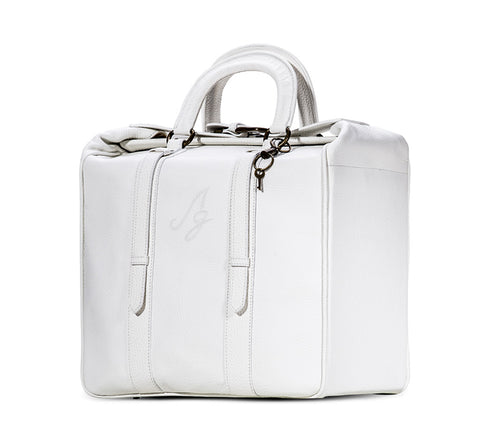 The Milla Briefcase Tote - White