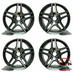 "SET OF 4 MERCEDES S400 S550 S600 2014-2018 19"" FACTORY OEM STAGGERED WHEELS RIMS"