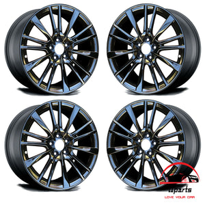 "SET OF 4 INFINITI Q60 2017 19"" FACTORY ORIGINAL STAGGERED WHEELS RIMS"