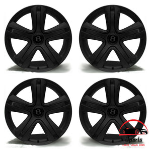 "SET OF 4 BENTLEY CONTINENTAL GT GTC 2012 2013 2014 20"" FACTORY OEM WHEELS RIMS WITH CENTER CAPS"