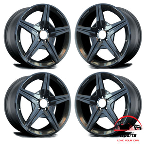 "SET OF 4 MERCEDES SL-CLASS 2009-2012 19"" FACTORY OEM STAGGERED WHEELS RIMS"