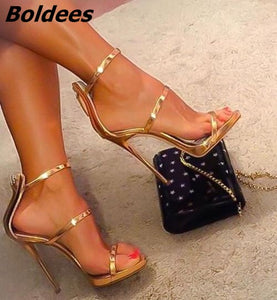 Shinny Mirror Sandals