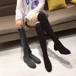 Load image into Gallery viewer, Over The Knee Sock Boots