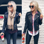 Load image into Gallery viewer, Ladies PU Leather Jacket