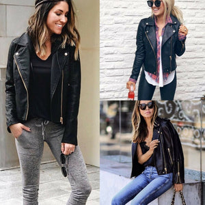 Ladies PU Leather Jacket