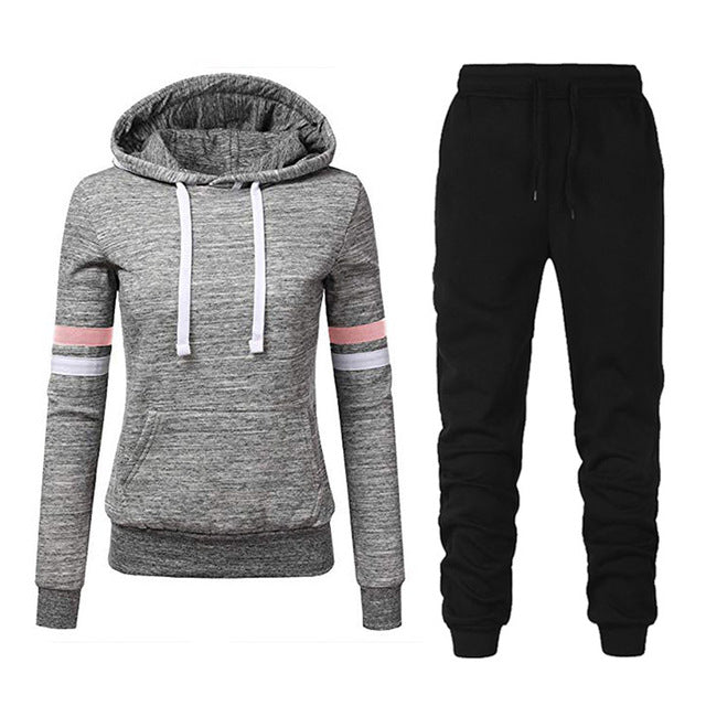 Women Stripe Hoodies & Pants