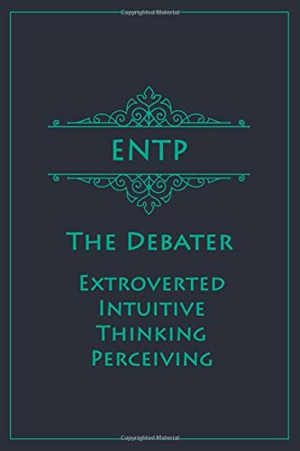 ENTP - The Debater (Extroverted, Intuitive, Thinking, Perceiving): Myers-Briggs Notebook for Visionaries/Debaters | Vintage Teal Edition | Cream Paper | 120 pages, 6x9