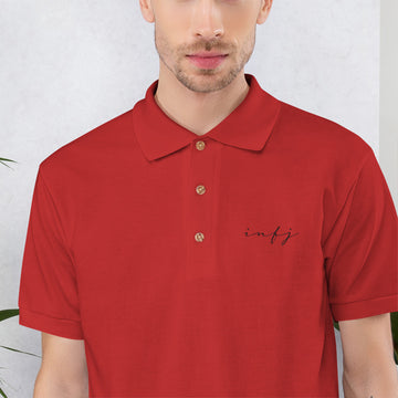 INFJ office Embroidered Polo Shirt