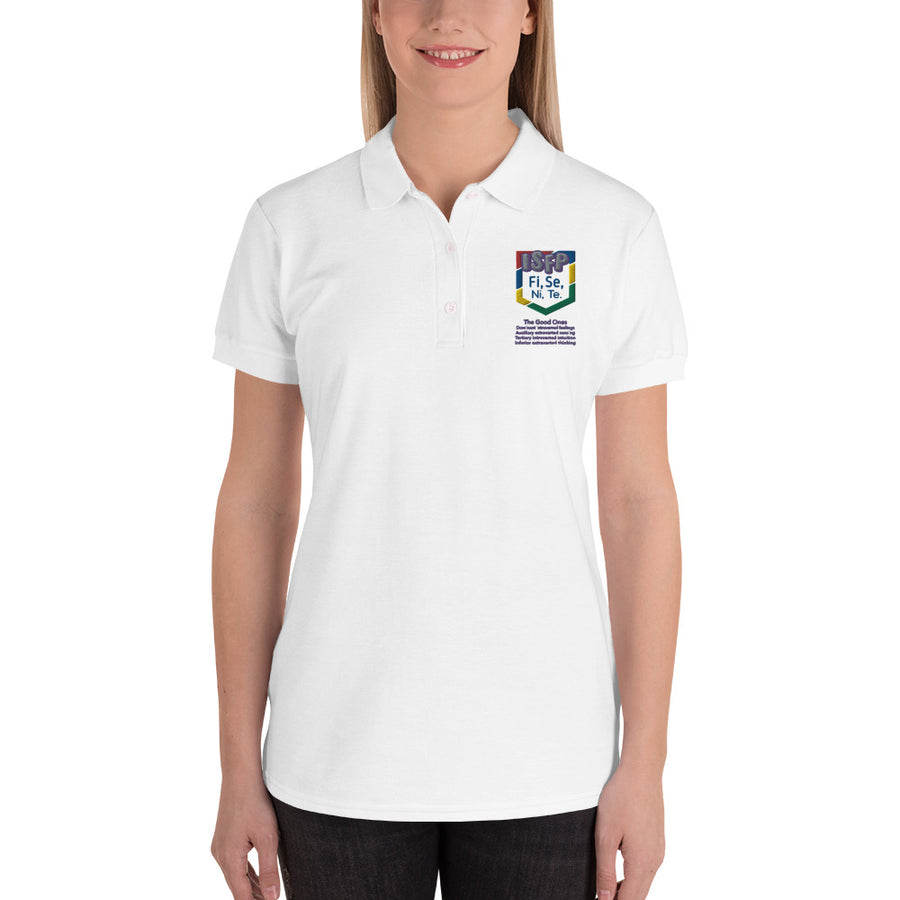 ISFP art by Djamyrah M. Embroidered Women's Polo Shirt