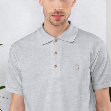 Enneagram 3 Embroidered Polo Shirt