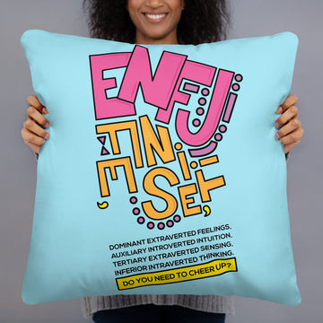ENFJ Basic Pillow Pattern Letters Drawing By Maria Macla Cue