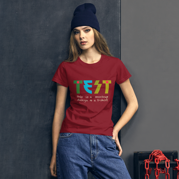 Ironic Designer T-Shirt for Women (KISS font 'Die-Nasty')