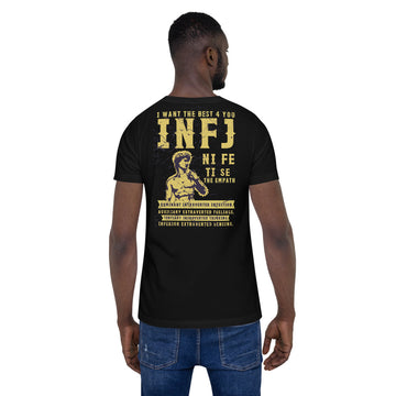 Short-Sleeve Unisex INFJ T-Shirt design by Tanvir Mehedi