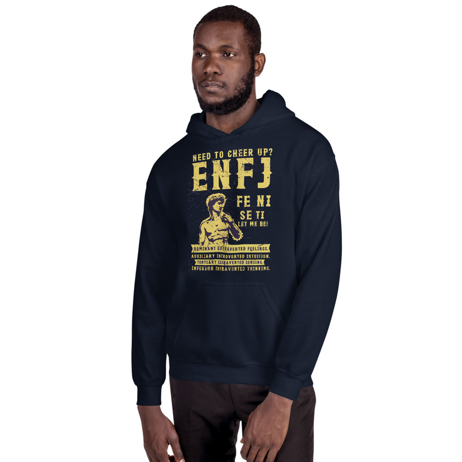 Need To Cheer Up? ENFJ Unisex Hoodie design by Tanvir Mehedi