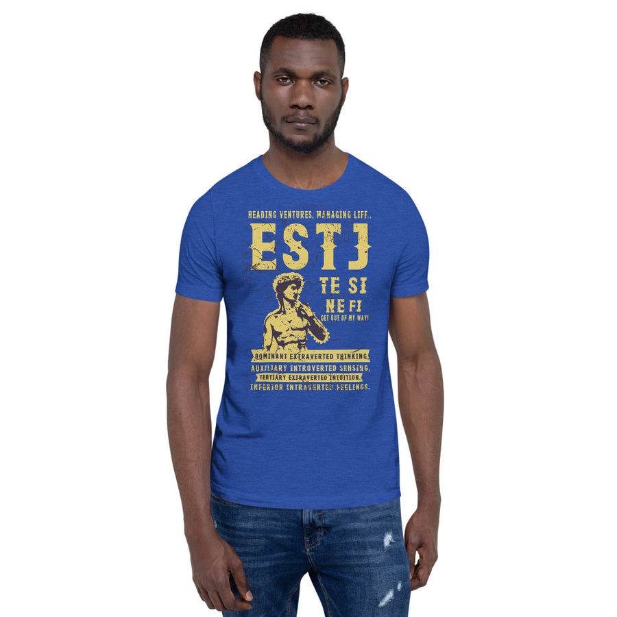 Short-Sleeve Unisex ESTJ T-Shirt design by Tanvir Mehedi