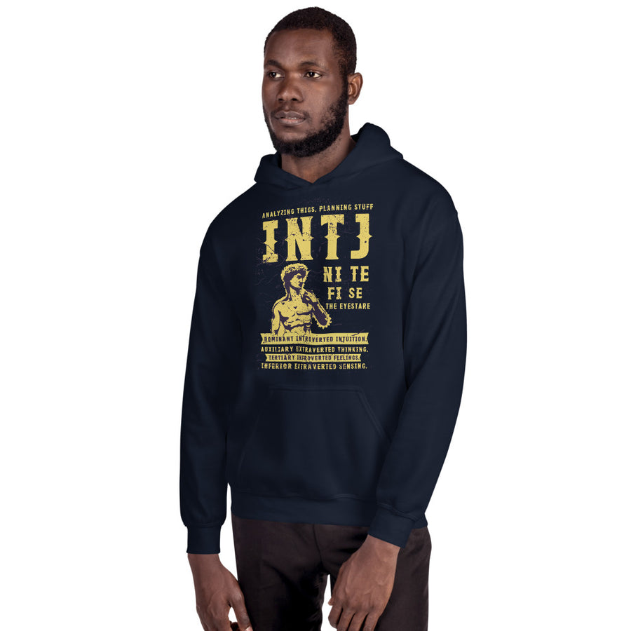 Analyzing Thigs, Planning Stuff INTJ Unisex Hoodie design by Tanvir Mehedi