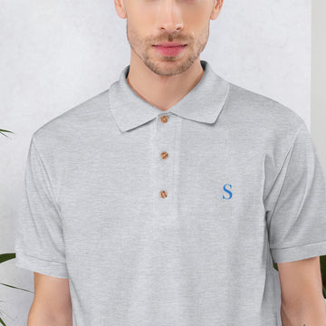 S (DISC) Embroidered Polo Shirt