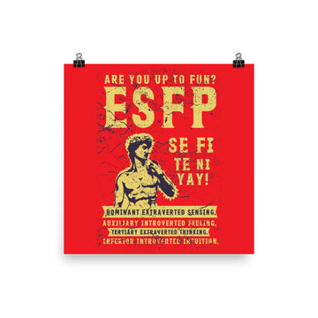 Are You Up To Fun? ESFP Poster design by Tanvir Mehedi