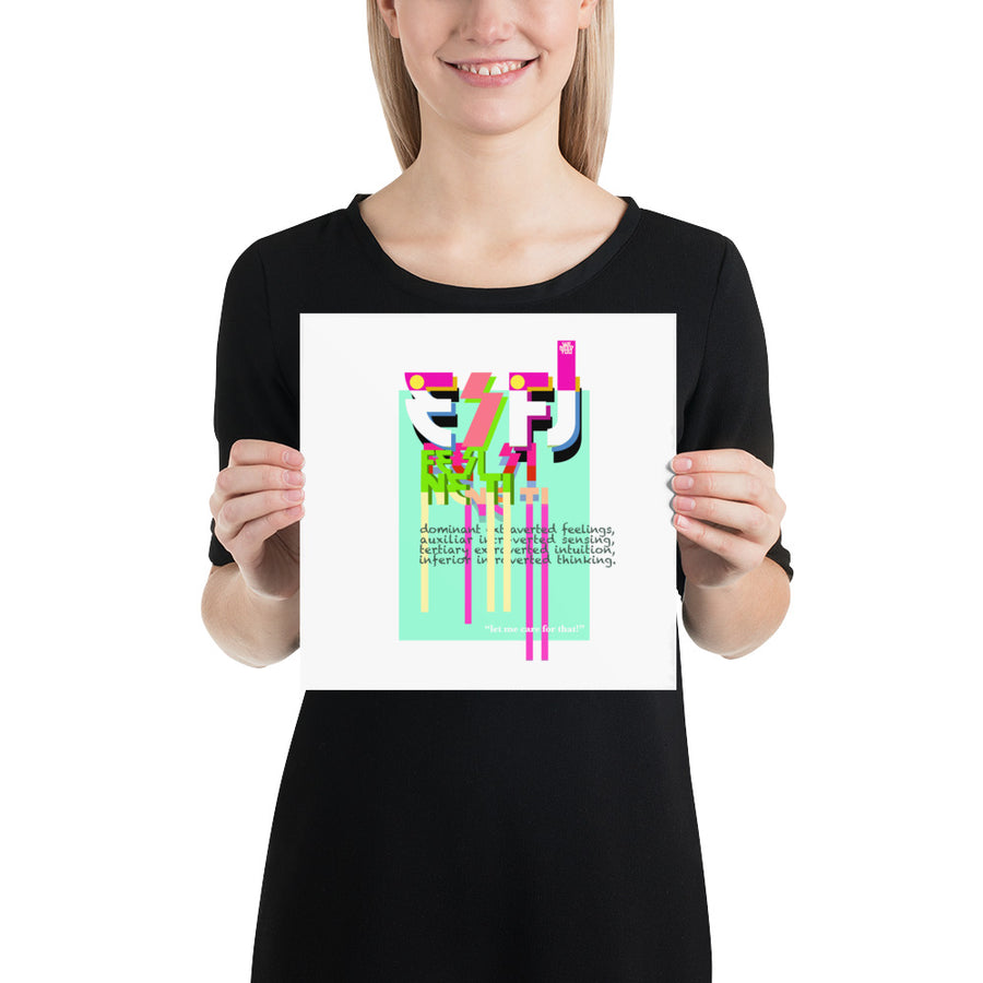 Poster ESFJ white art by Rio