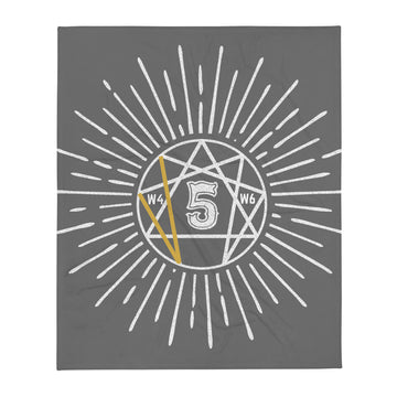 Throw Blanket enneagram 5 design by Tanvir Mehedi