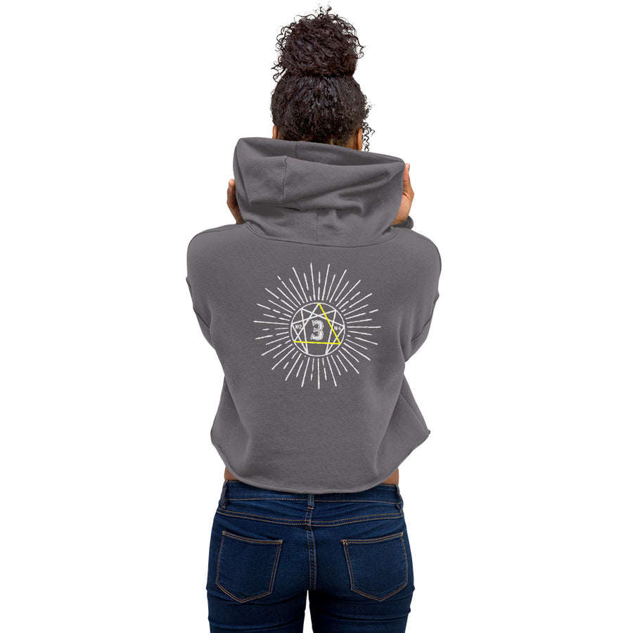 Enneagram 3 Crop Hoodie design by Tanvir Mehedi