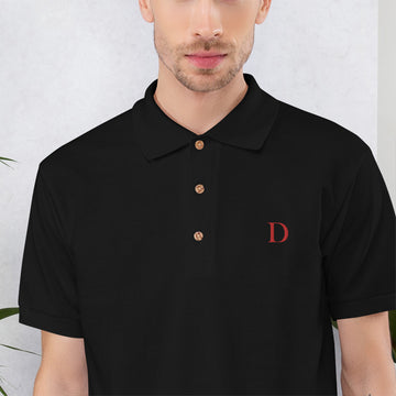 D (DISC) Embroidered Polo Shirt