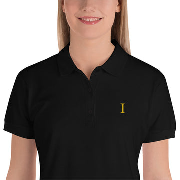 I (DISC) Embroidered Women's Polo Shirt