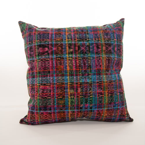 rainbow multicolor guatemalan pillow