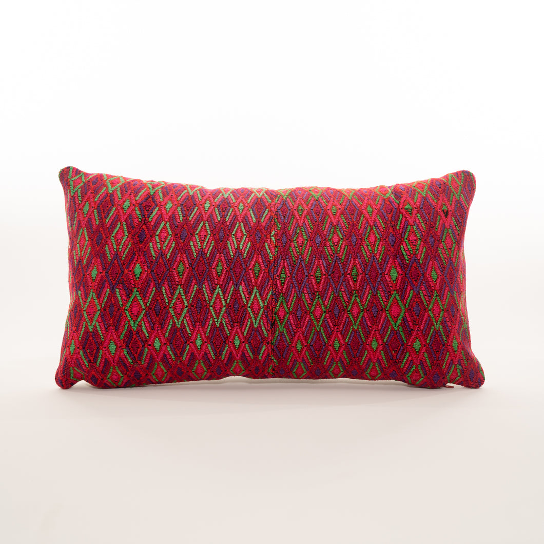 beautiful woven mayan pillow